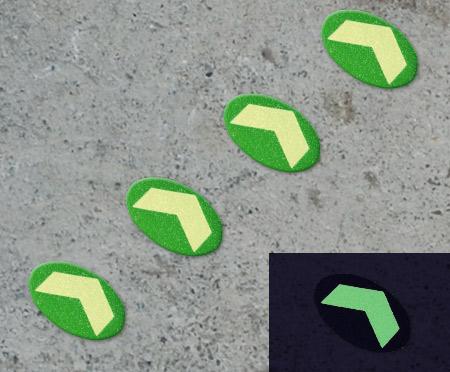 Discos direcciónales fotoluminiscentes - Señalización