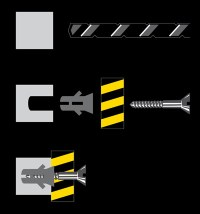 Montaje del kit amortiguadores de golpes atornillado