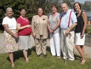 Jenifer Grant, Karen Birch and Liana Valente (Sigma Alpha Iota members), Phyllis Greenberg, Stuart Ingersoll, Kathleen Maher