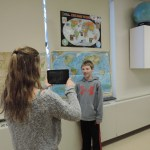Videotaping an EES student