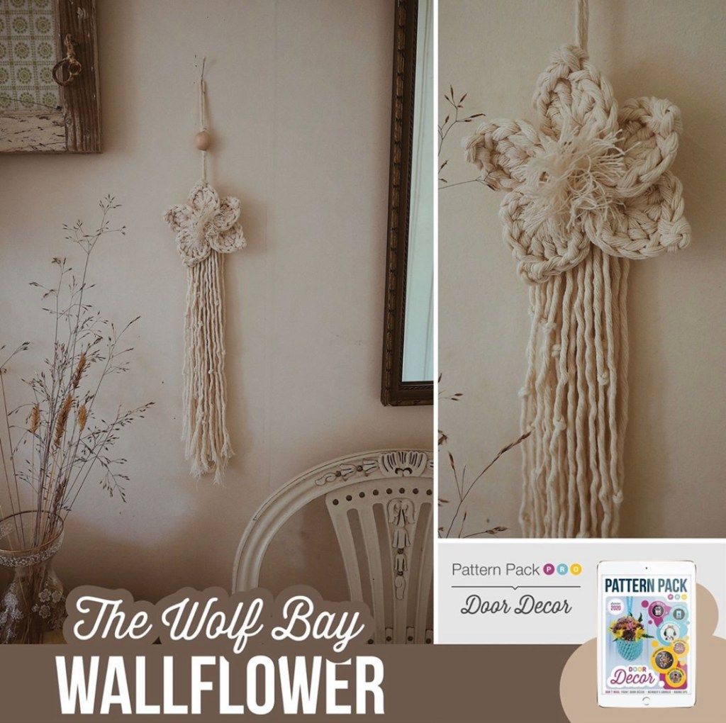 A collage of the Wolfbay Wallflower in beige calm tones