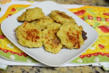 Bolinho de couve-flor com carne moída