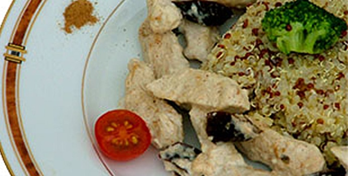 Escalopes de dinde à la cannelle et aux pruneaux