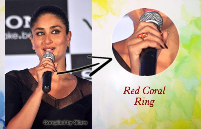 Kareena Kapoor Wearing Red Coral Gemstone Siliguri