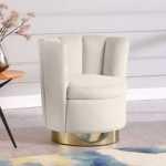 Anita Accent Chair In Cream Velvet