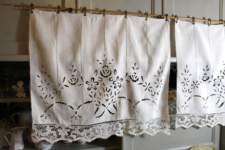 rideaux anciens dentelle d occasion