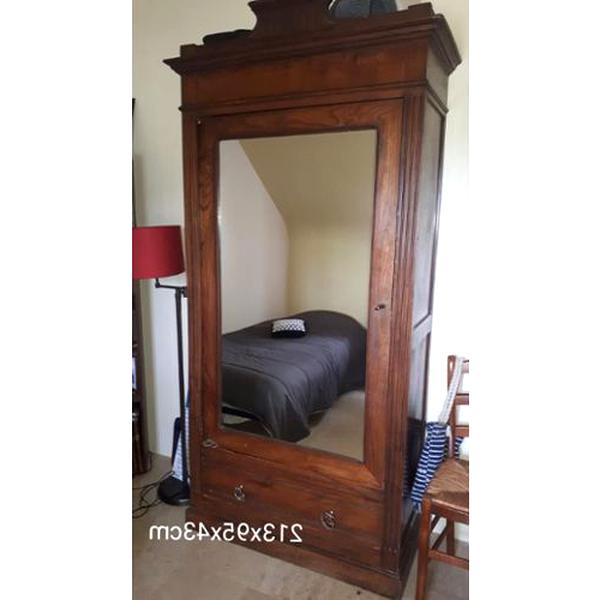 armoire ancienne porte miroir bright