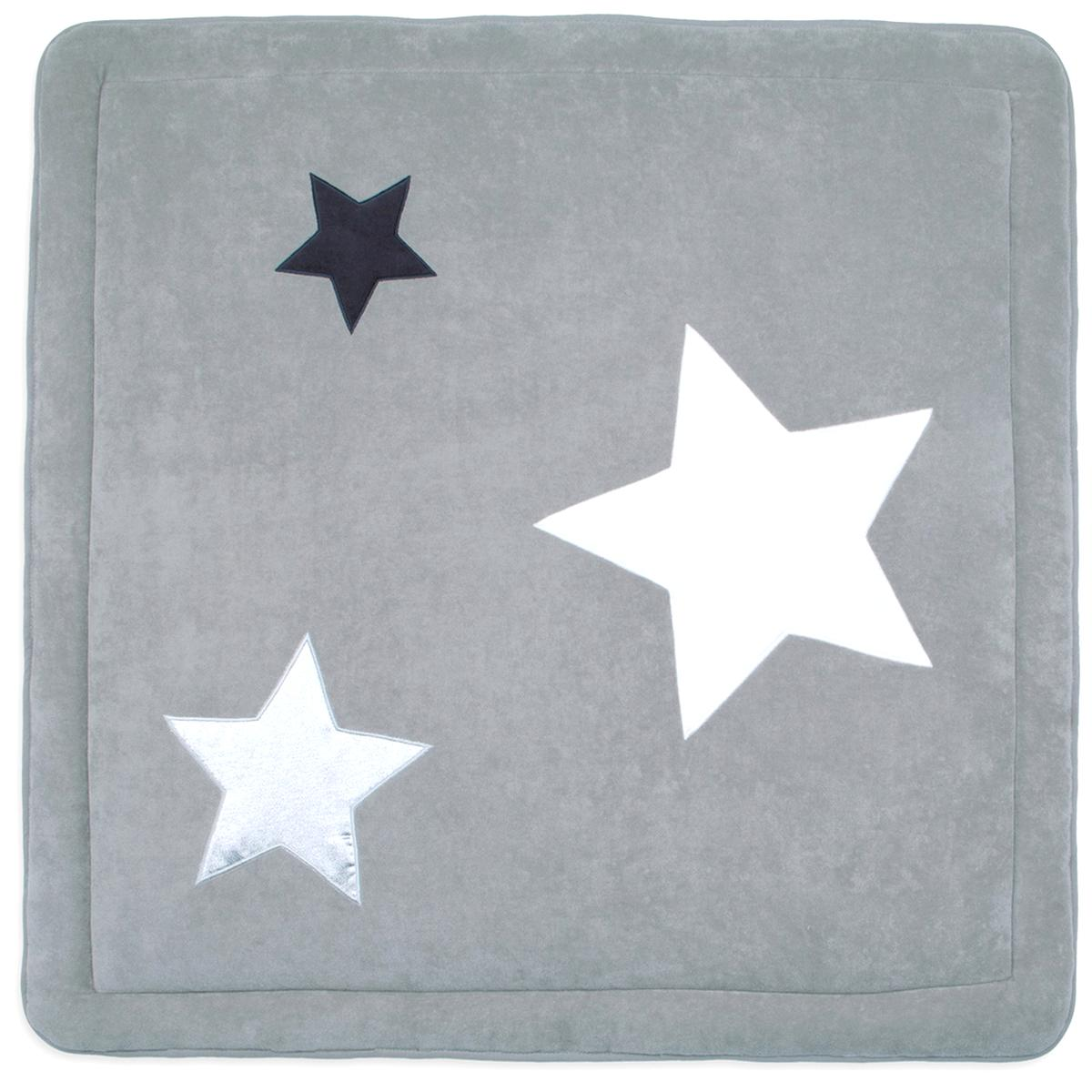 100x100 gris avec etoile swaddyl tapis