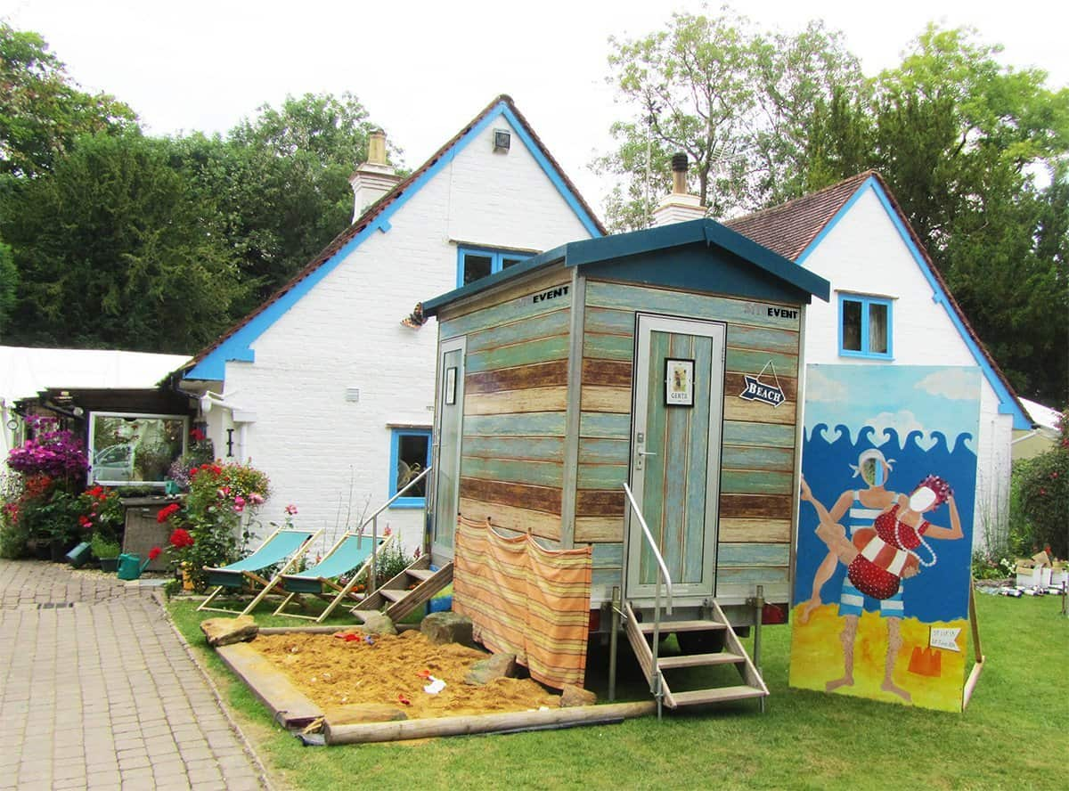 Beach Hut Toilet Themed Hire
