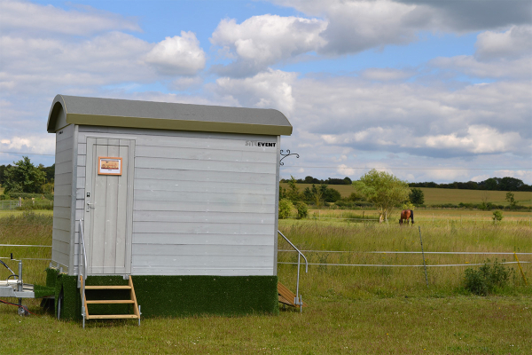 Shepherds Hut Hire Toilet Trailer