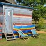 beach hut toilet