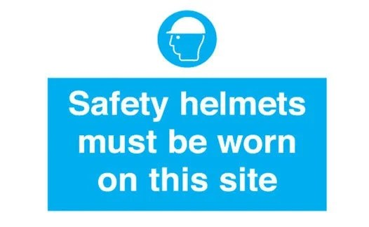 Construction site safety signs