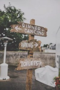 wedding toilet sign
