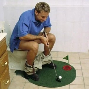 golf bath mat