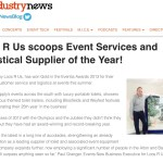 Loos R Us Scoops Event Services and Logistical Supplier of the Year – Event Industry News – November 2013