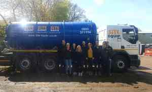 large wet waste removal - our brand new tanker has arrived!