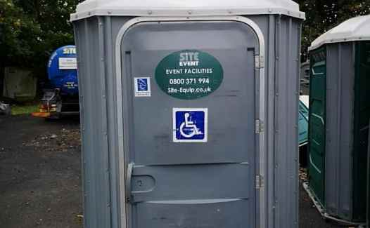 second hand ex hire disabled toilets for sale