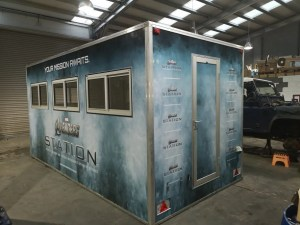ticket booth wrap