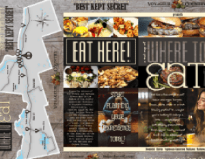 Where to Eat Voyageur Country Brochure Outside