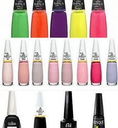 Que cores estão sendo usadas nas unhas?
