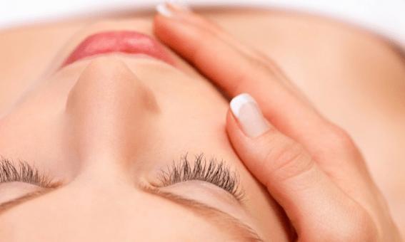 Ilustração da pele do rosto