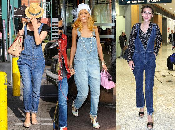 Famosos usando macacão jeans