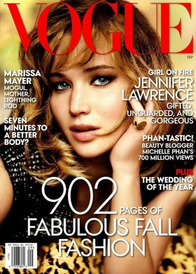 Jennifer Lawrence na Vogue de setembro