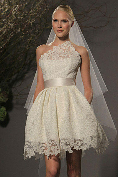 fotos de vestidos de noiva curtos para noivas ousadas