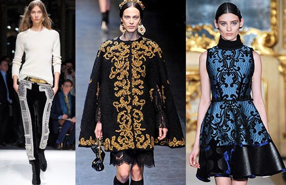 lindas roupas de luxo com estampa barroca
