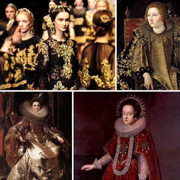 roupas do estilo barroco