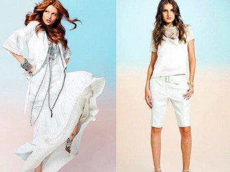 branco total para estilo despojado