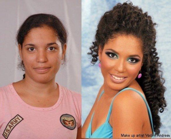 segunda foto de uma série de transformações incríveis feito com maquiagem