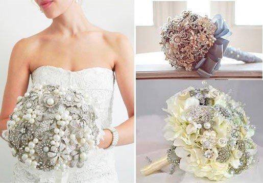 buque de broche é tendência para casamento em 2014