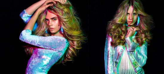 roupas com efeitos holográficos