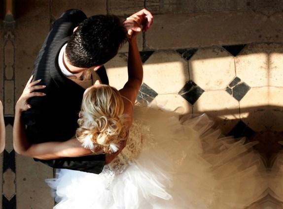 foto da primeira dança dos noivos