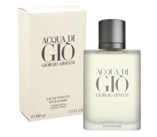 acqua di gio de giorgio armani está em quinto lugar na lista dos perfumes importados masculinos mais sedutores