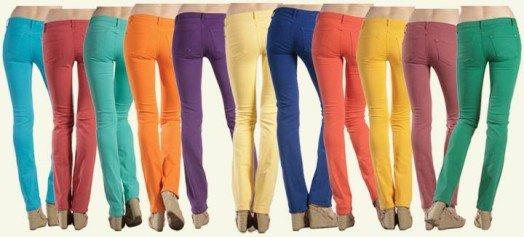 Calças Skinny Coloridas