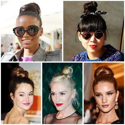 diversos modelos de penteados coque
