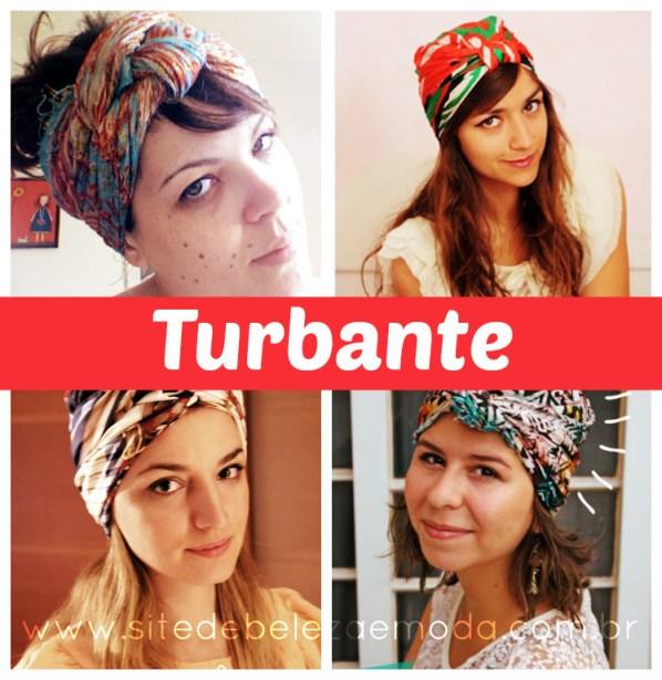 amarração de lenço do tipo turbante