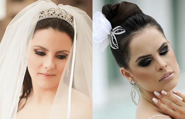 maquiagem para noivas que casaram à noite