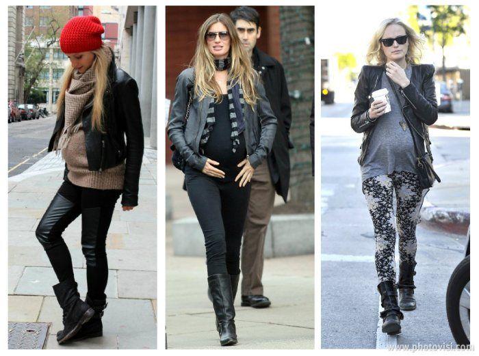 Legging da moda gestante
