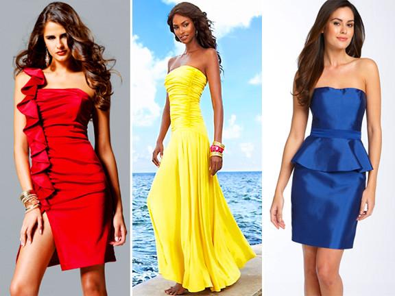 mulheres usando cores primárias