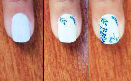 estilo de unhas decoradas de azulejo português