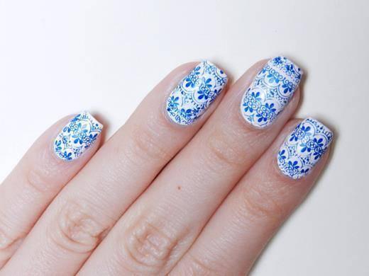 faça você mesma unhas decoradas de azulejo português