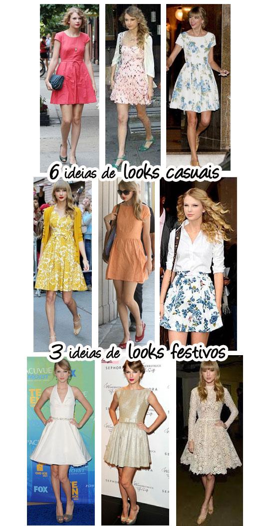 Modelos de look delicado baseado em Taylor Swift