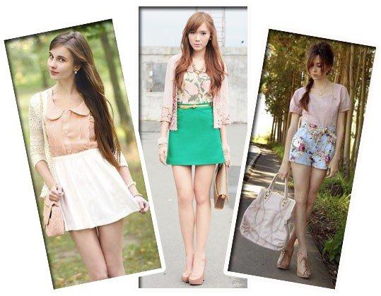 Modelos de look delicados