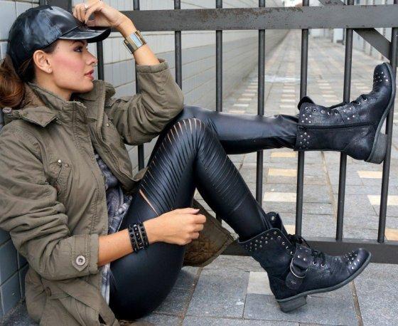 botas estilo coturno