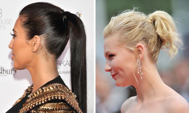 mulheres usando penteados fáceis de fazer no melhor estilo de rabo de cavalo