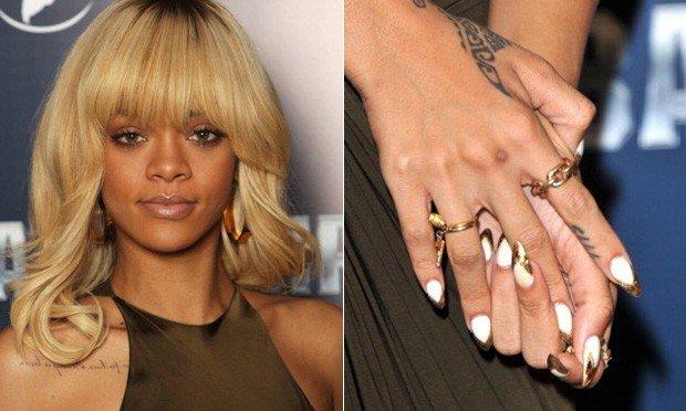 unhas decoradas da Rihanna