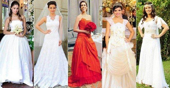 modelos de vestidos de noiva das novelas